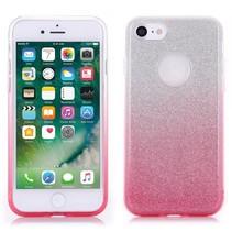 Roze Glitter Gradient TPU Hoesje iPhone 7