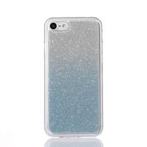 Blauw Glitter Gradient TPU Hoesje iPhone 7
