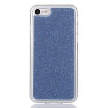 Blauw Glitter TPU Hoesje iPhone 7
