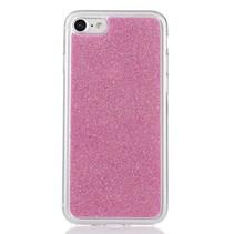 Roze Glitter TPU Hoesje iPhone 7