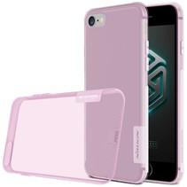 Roze / Transparant TPU Hoesje iPhone 7