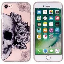 Skull & Flowers TPU Hoesje iPhone 7