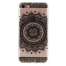 Zwarte Bloem TPU Hoesje iPhone 7