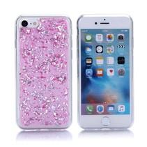 Roze Glitters TPU Hoesje iPhone 7