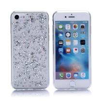 Zilver Glitters TPU Hoesje iPhone 7