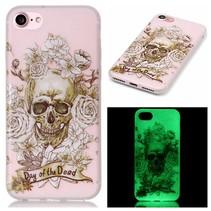 Skull Design TPU Hoesje iPhone 7