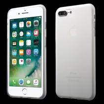 Wit Mat TPU Hoesje iPhone 7 Plus