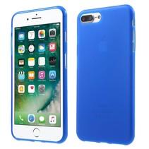 Blauw Mat TPU Hoesje iPhone 7 Plus
