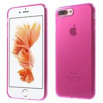 Roze / Transparant TPU Hoesje iPhone 7 Plus