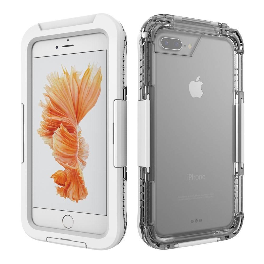 Wit / Transparant Waterdicht Hoesje iPhone 7 Plus
