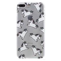 Unicorns TPU Hoesje iPhone 7 Plus