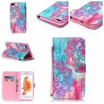 Kleurrijke Bloemen Bookcase Hoesje iPhone 7 Plus