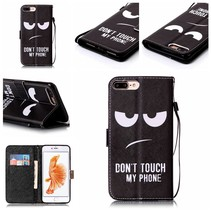 Don't Touch My Phone Bookcase Hoesje iPhone 7 Plus