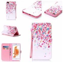 Kleurrijke Bloesem Bookcase Hoesje iPhone 7 Plus