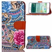 Bloemen Bookcase Hoesje iPhone 7 Plus