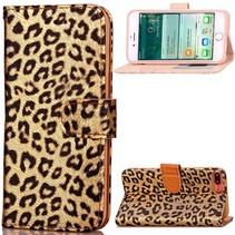 Goud Luipaard Bookcase Hoesje iPhone 7 Plus