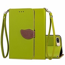 Groen Blad Design Bookcase Hoesje iPhone 7 Plus