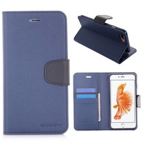 Diary Blauw Bookcase Hoesje iPhone 7 Plus