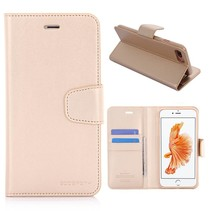 Diary Goud Bookcase Hoesje iPhone 7 Plus