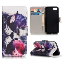 Kat met Zonnebril Bookcase Hoesje iPhone 7 Plus