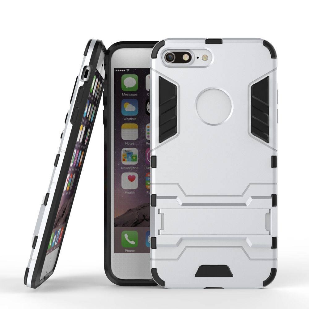Zilver 2-in-1 Hybrid Hoesje iPhone 7 Plus