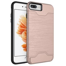 Rozegoud Pasjeshouder Hybrid Hoesje iPhone 7 Plus