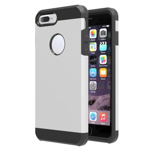 Zilver Hybrid Hoesje iPhone 7 Plus