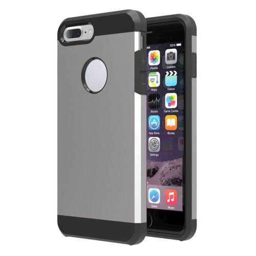 Grijs Hybrid Hoesje iPhone 7 Plus