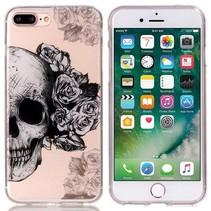 Skull & Flowers TPU Hoesje iPhone 7 Plus