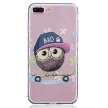 Uil op Skateboard TPU Hoesje iPhone 7 Plus