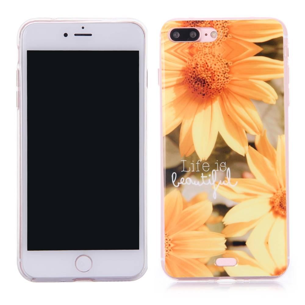 Zonnebloem TPU Hoesje iPhone 7 Plus