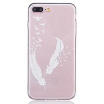 Veertjes en Vogels TPU Hoesje iPhone 7 Plus