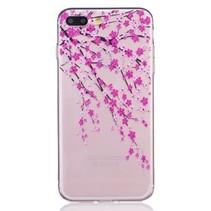 Roze Bloesem TPU Hoesje iPhone 7 Plus