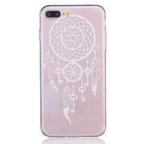 Wit / Transparant Dreamcatcher TPU Hoesje iPhone 7 Plus