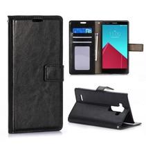 Zwarte Bookcase hoes LG G4