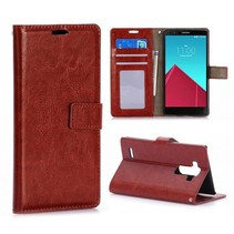 Bruine Bookcase hoes LG G4