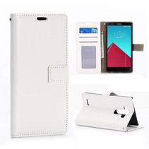Witte Bookcase hoes LG G4