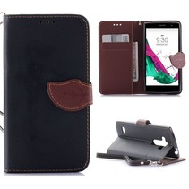 Zwart Blad Design Bookcase Hoesje LG G4S