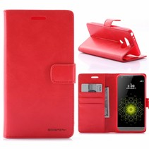 Moon Series Rood Bookcase Hoesje LG G5 / G5 SE