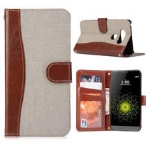 Khaki Jeans Bookcase Hoesje LG G5 / G5 SE