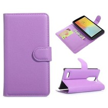 Paarse lychee Bookcase hoes LG L Bello / L80 Plus