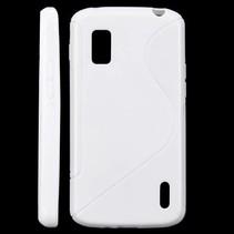 S-line TPU hoesje wit LG Nexus 4