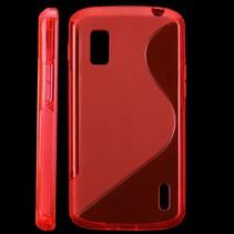 S-line TPU hoesje rood LG Nexus 4