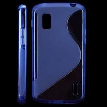 S-line TPU hoesje blauw LG Nexus 4