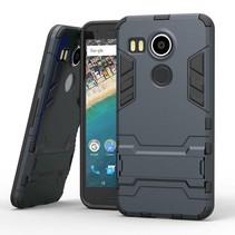 Blauw Hybrid Hoesje LG Nexus 5X