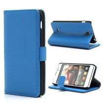 Blauw lychee Booktype  hoesje LG Optimus F5