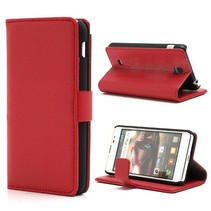 Rood lychee Booktype  hoesje LG Optimus F5