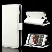 Wit lychee Booktype  hoesje LG Optimus F5