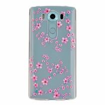 Roze Bloemen TPU Hoesje LG V10