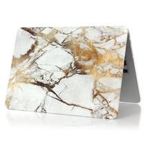 Marmer Hardcover Case Macbook 12-inch (Goud / Grijs)